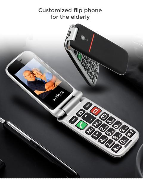 Teléfono Móvil para Personas Mayores Artfone Flip CF241A