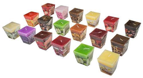 Set de 18 velas aromáticas perfumadas All2shop de 18 aromas surtidos para